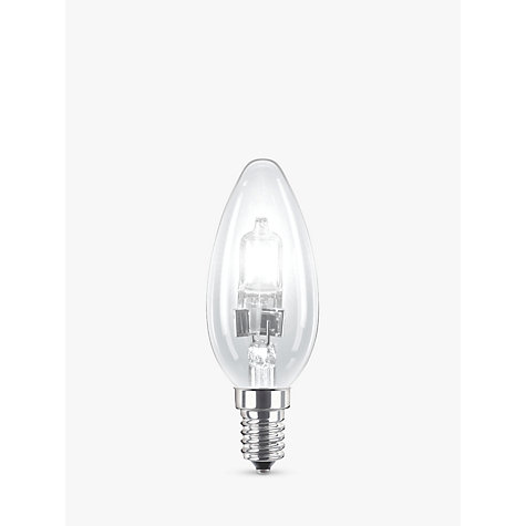 Buy Philips Halogen 18W SES Classic Candle Bulb, Clear Online at johnlewis.com
