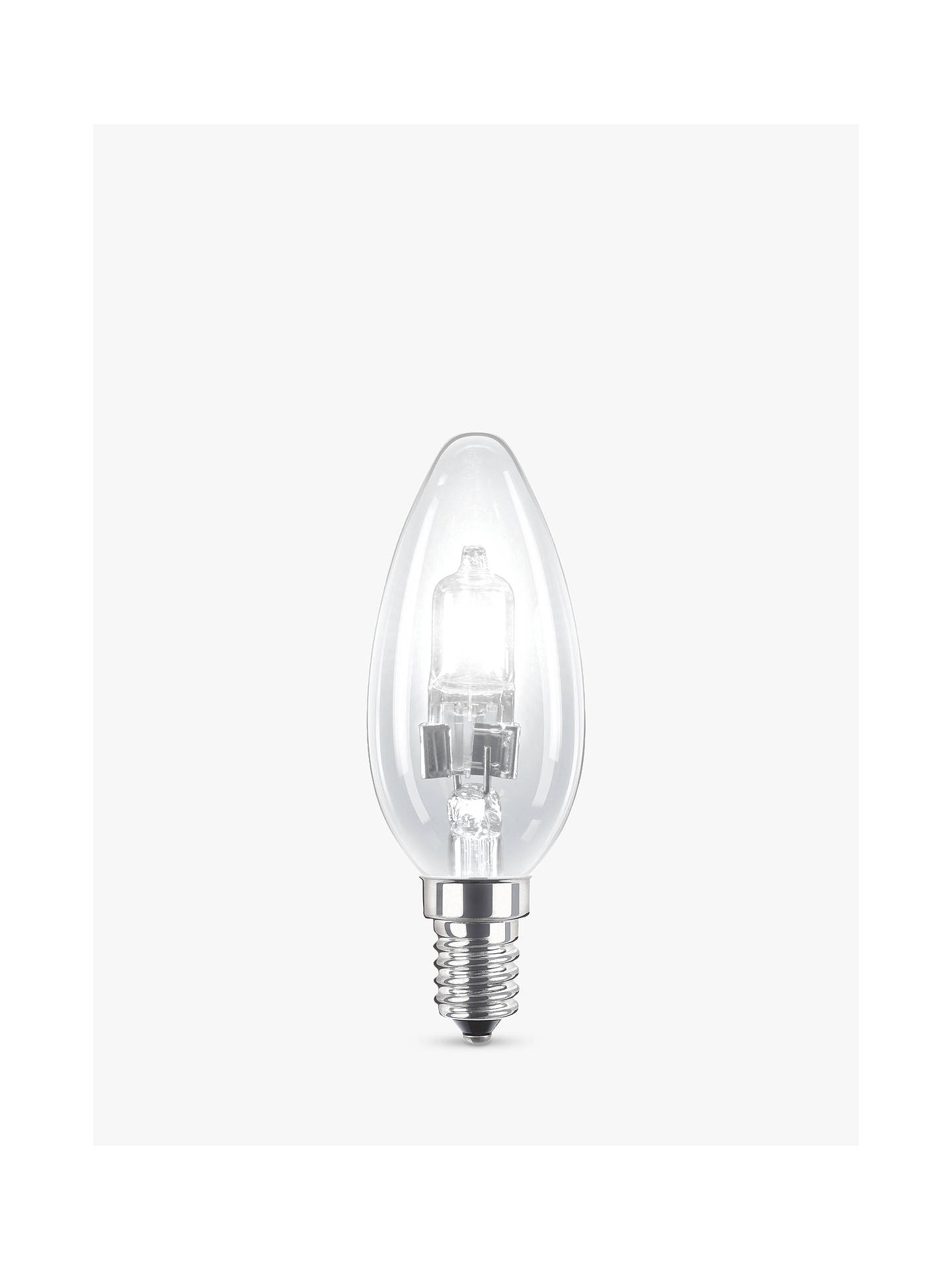 d2e3066531 Buy Philips 28W SES Eco Halogen Classic Energy Saving Candle Bulb, Clear  Online at johnlewis
