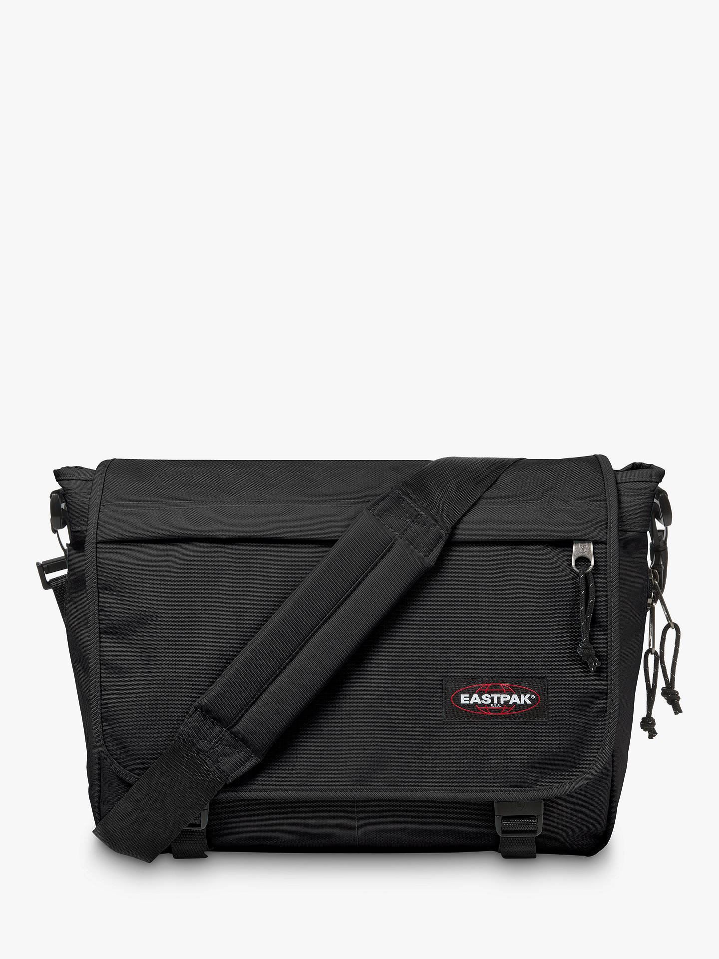 be5fd85c38 Buy Eastpak Delegate Authentic Messenger Bag, Black Online at johnlewis.com  ...