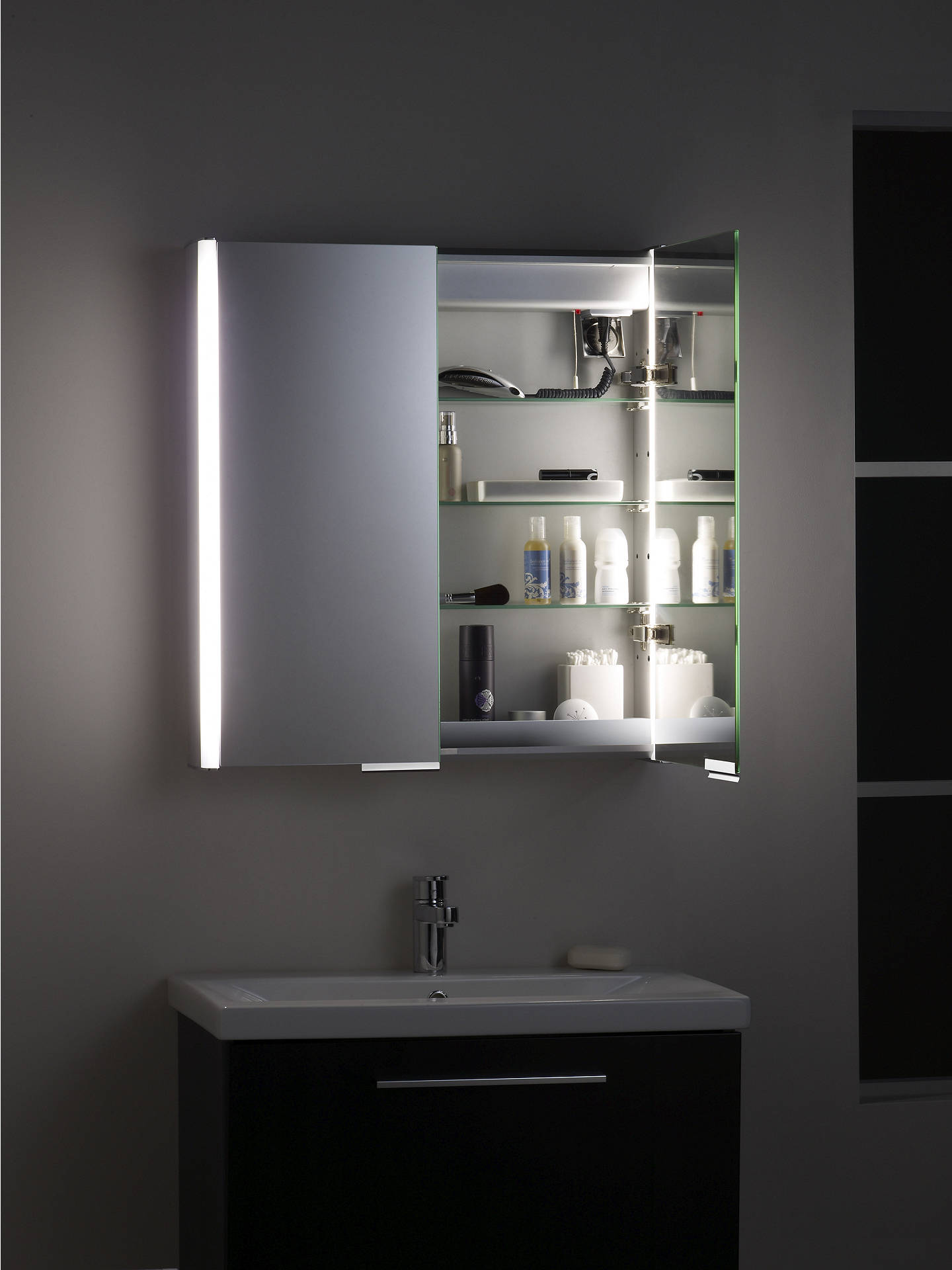 Roper Rhodes Summit Illuminated Double Bathroom Cabinet With Sided Mirror Online At Johnlewis