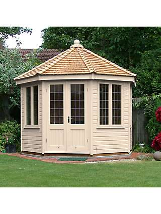 Crane Garden Buildings 3 x 3m Round Pavilion Summerhouse, FSC-certified (Scandinavian Redwood)