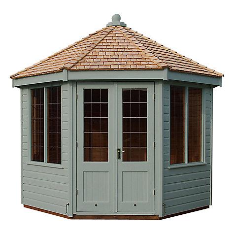 buy crane 3 x 3m round pavilion summerhouse fsc certified scandinavian redwood john lewis. Black Bedroom Furniture Sets. Home Design Ideas