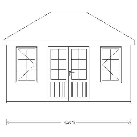 buy crane 30 x 42m garden room fsc certified scandinavian redwood - Garden Sheds John Lewis