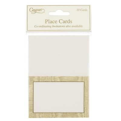 Caspari Gold Moiré Place Cards, Pack of 10