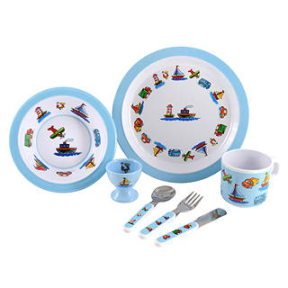 Martin Gulliver Trucks Boats and Planes Melamine Dinner Set  sc 1 st  John Lewis & Children\u0027s Tableware | Children\u0027s Plates Set | John Lewis