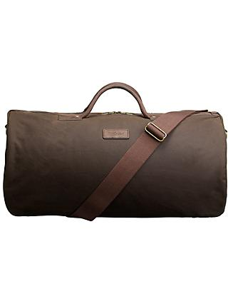 Barbour Wax Cotton Holdall, Olive