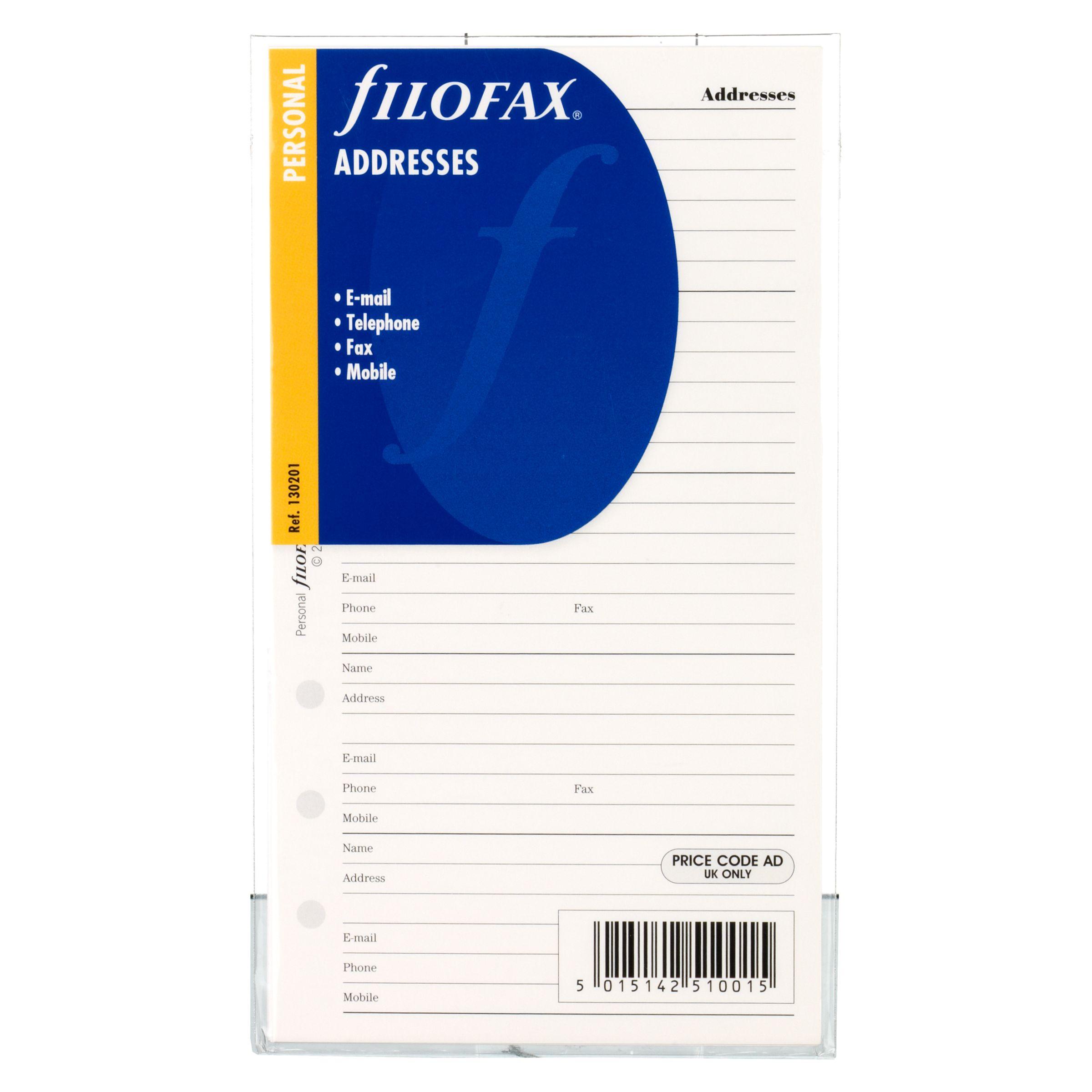 Filofax Filofax Contacts, Personal