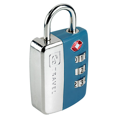 Buy Go Travel TSA Approved Combination Padlock, Assorted Colours Online at johnlewis.com