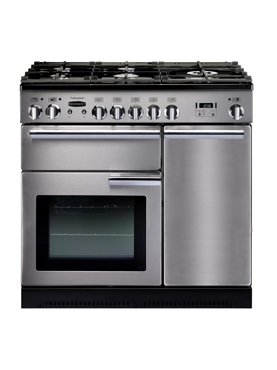 Buy Rangemaster Professional+ 90 Dual Fuel Range Cooker, Stainless Steel/Chrome Trim Online at johnlewis.com