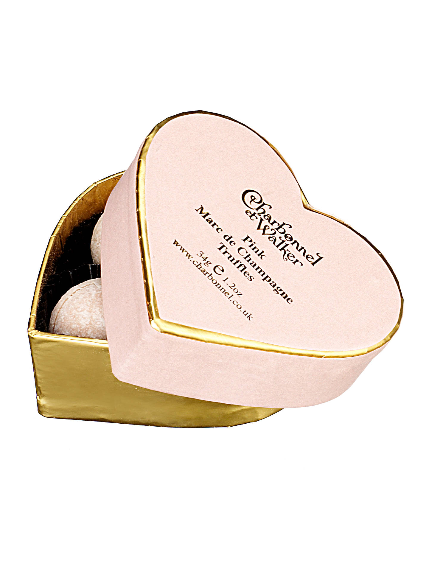 BuyCharbonnel et Walker Mini Pink Heart Champagne Truffles, 34g Online at johnlewis.com