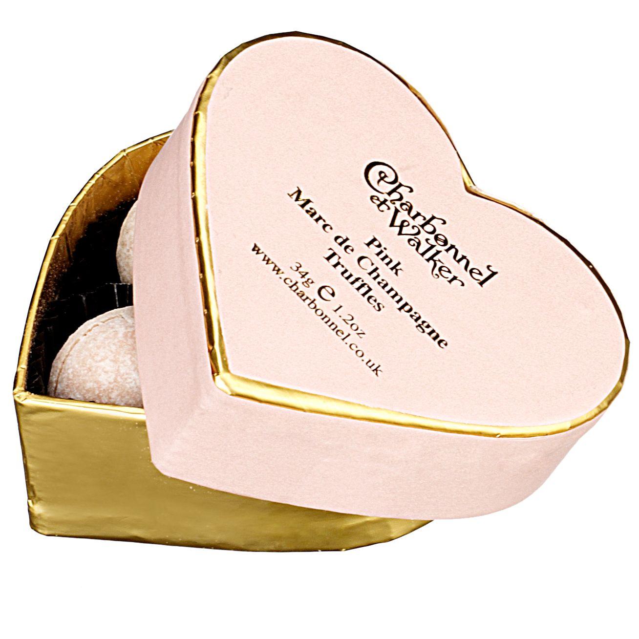 Charbonnel et Walker Charbonnel et Walker Mini Pink Heart Champagne Truffles, 34g