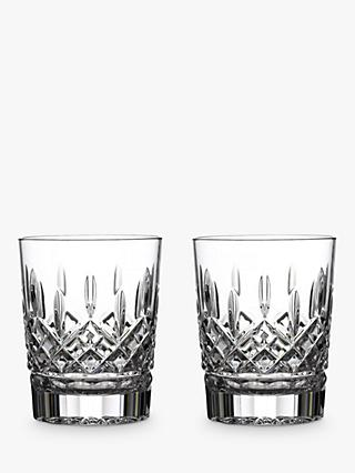 Waterford Crystal Lismore Double Old Fashioned Cut Lead Crystal Tumblers, Set of 2, 350ml