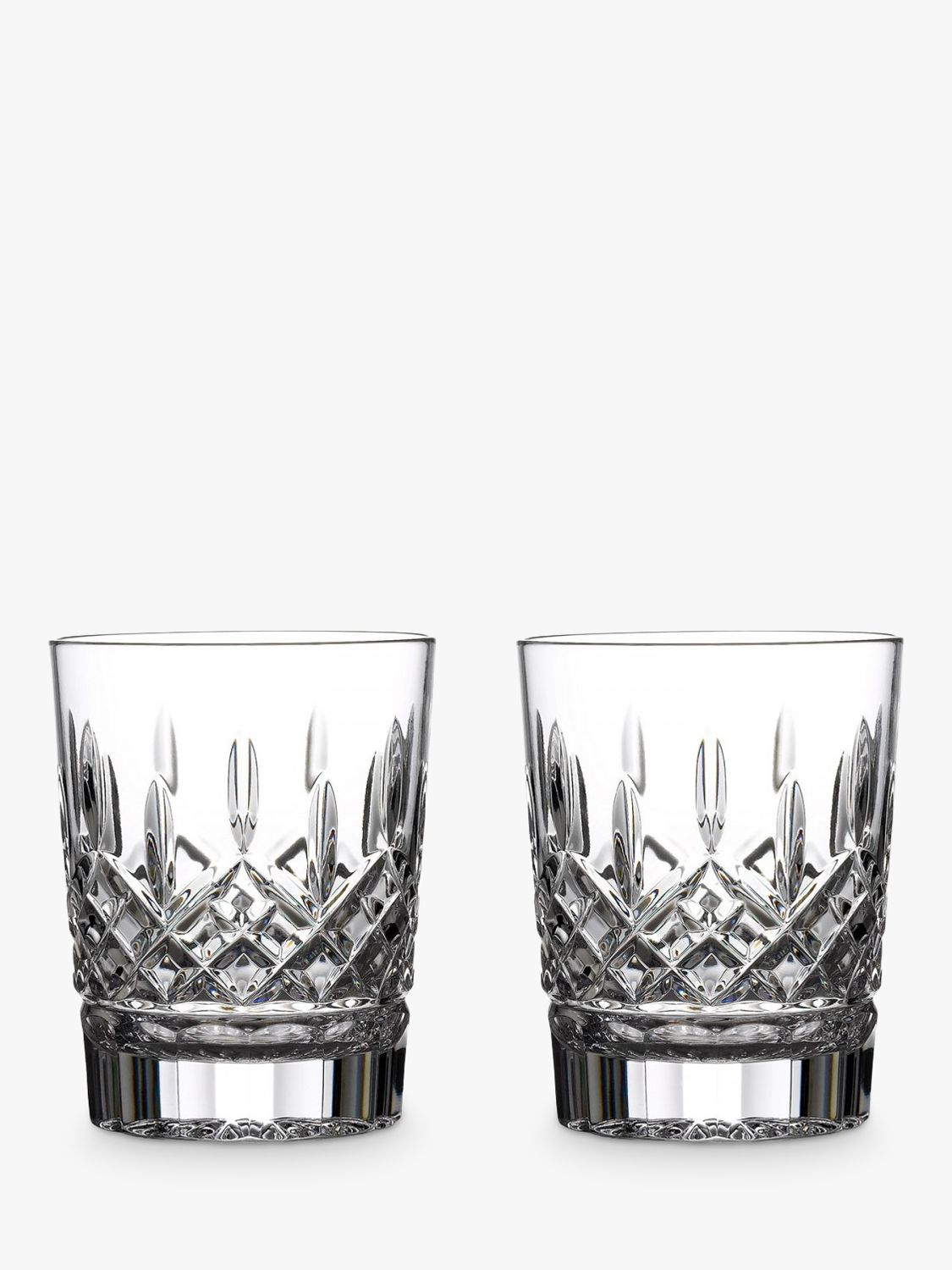 Waterford Waterford Crystal Lismore Double Old Fashioned Cut Lead Crystal Tumblers, Set of 2, 350ml