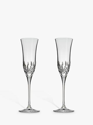 Waterford Crystal Lismore Essence Cut Lead Crystal Champagne Flutes, Set of 2, 150ml