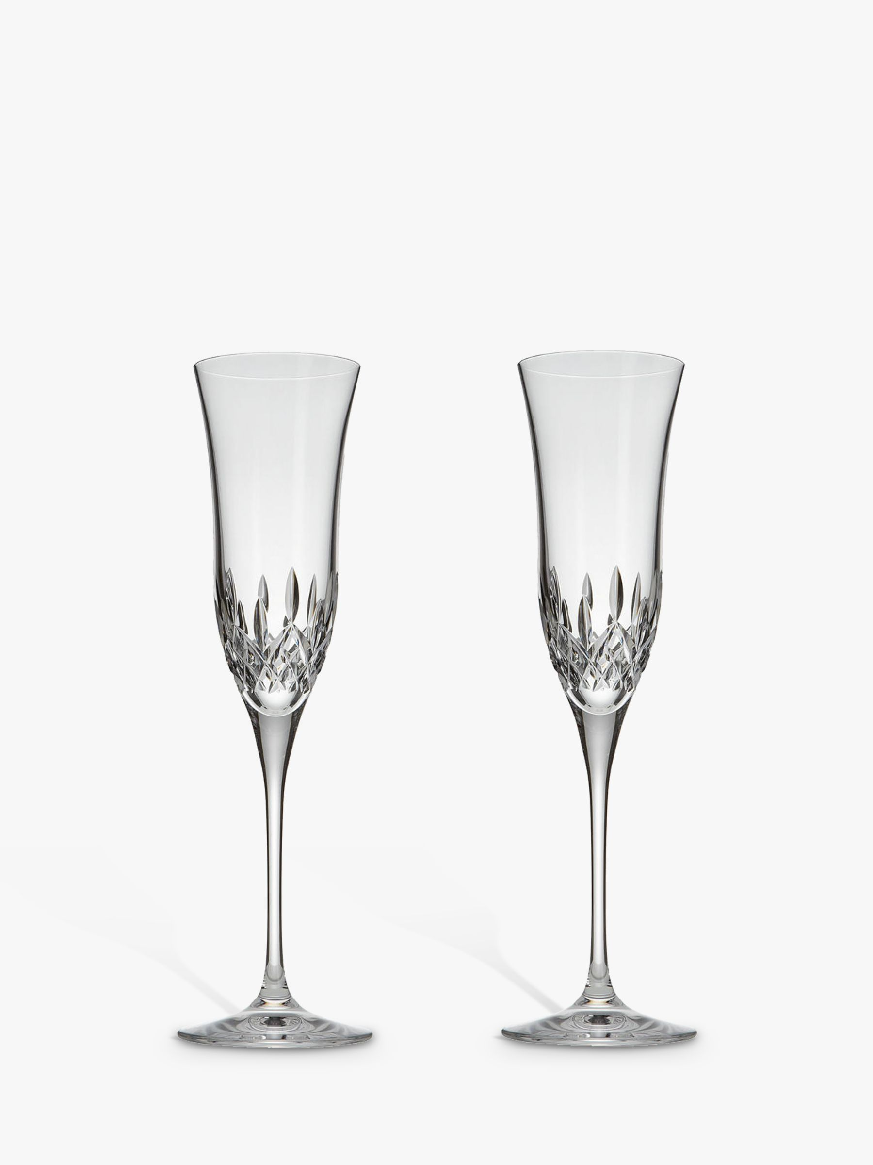 Waterford Waterford Crystal Lismore Essence Cut Lead Crystal Champagne Flutes, Set of 2, 150ml