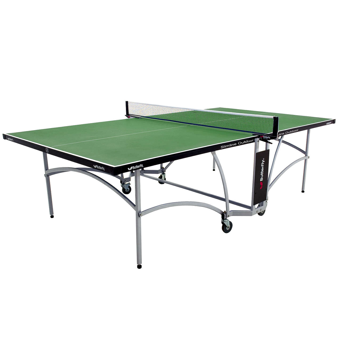 Butterfly slimline outdoor table tennis table green at john lewis - Weatherproof table tennis table ...