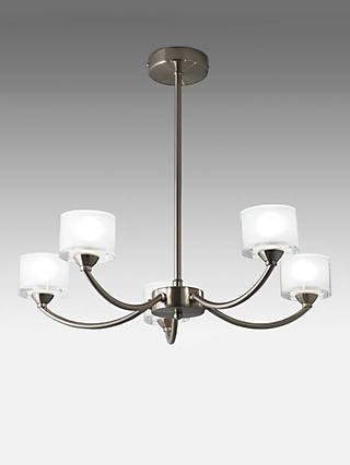 John Lewis Partners Paige Ceiling Light 5 Arm Satin Nickel