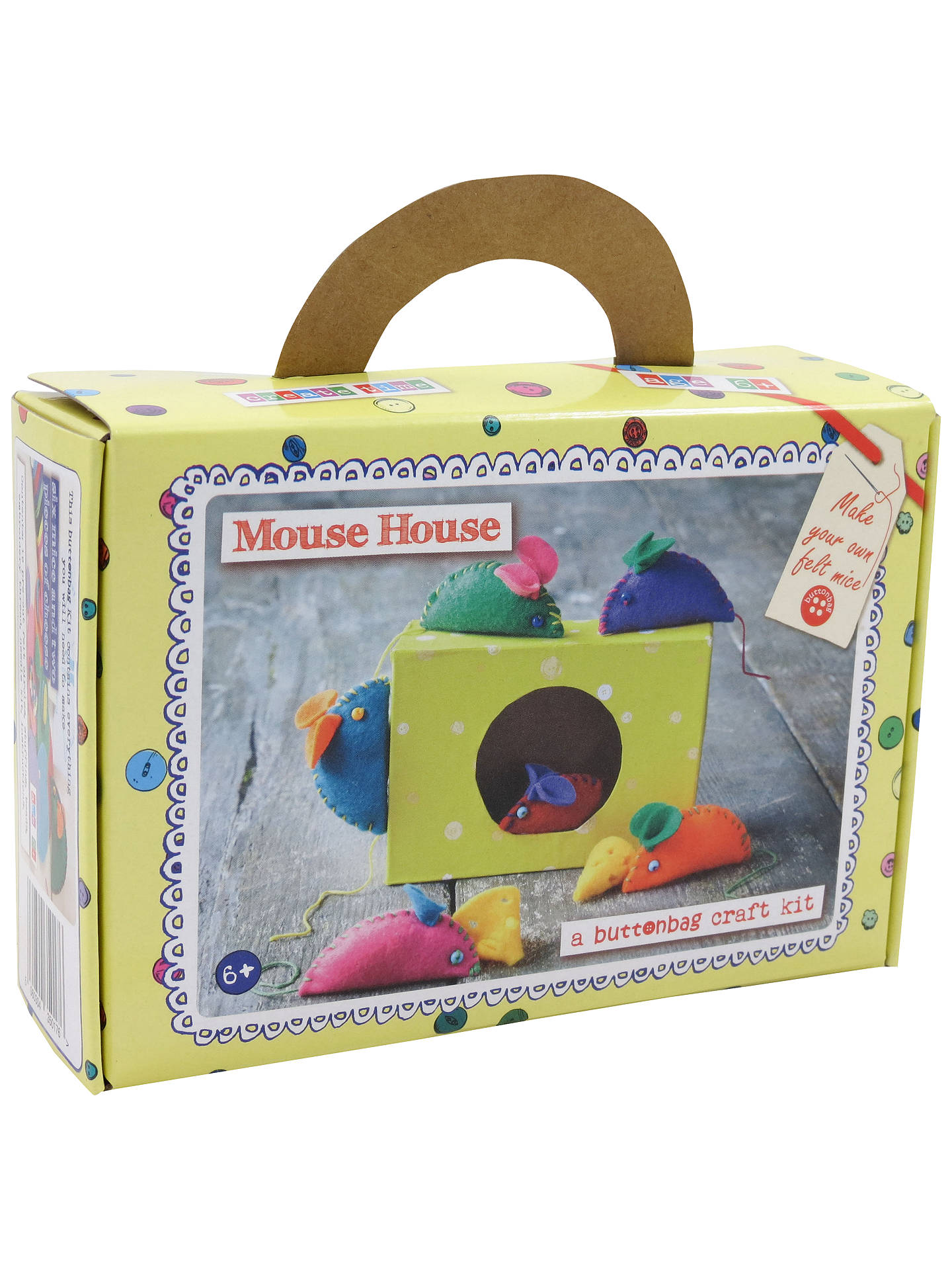 BuyButtonbag Mouse House Craft Kit Online at johnlewis.com