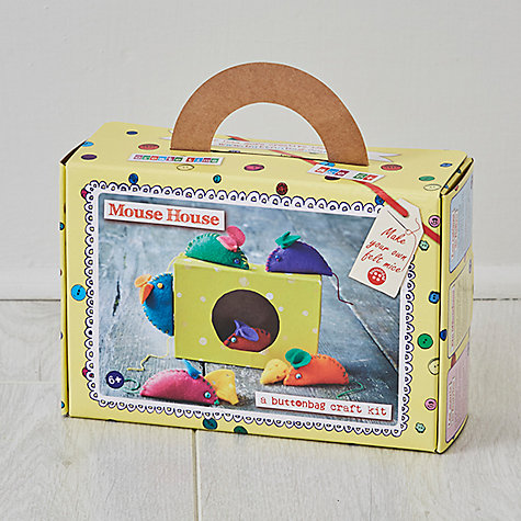 Buy Buttonbag Mouse House Craft Kit Online at johnlewis.com