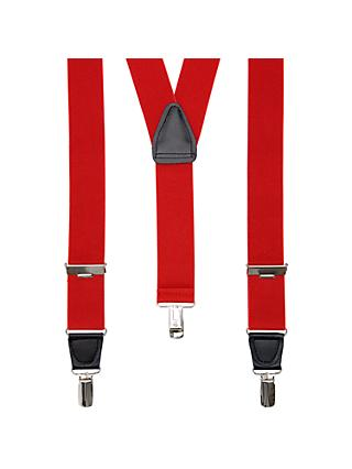 John Lewis & Partners Wide Braces, One Size, Red