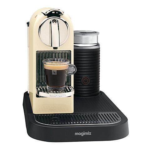 buy nespresso 190 citiz and milk coffee machine by magimix cream john lewis. Black Bedroom Furniture Sets. Home Design Ideas