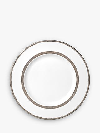 Vera Wang for Wedgwood Lace Platinum 27cm Dinner Plate, White