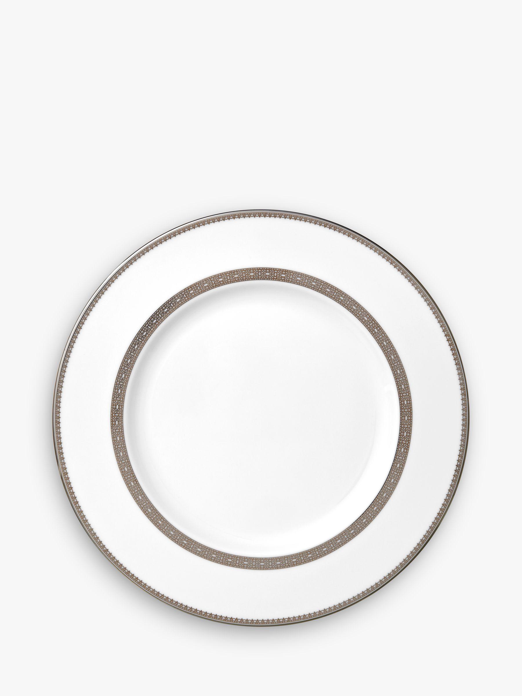 Vera Wang for Wedgwood Vera Wang for Wedgwood Lace Platinum 27cm Dinner Plate, White