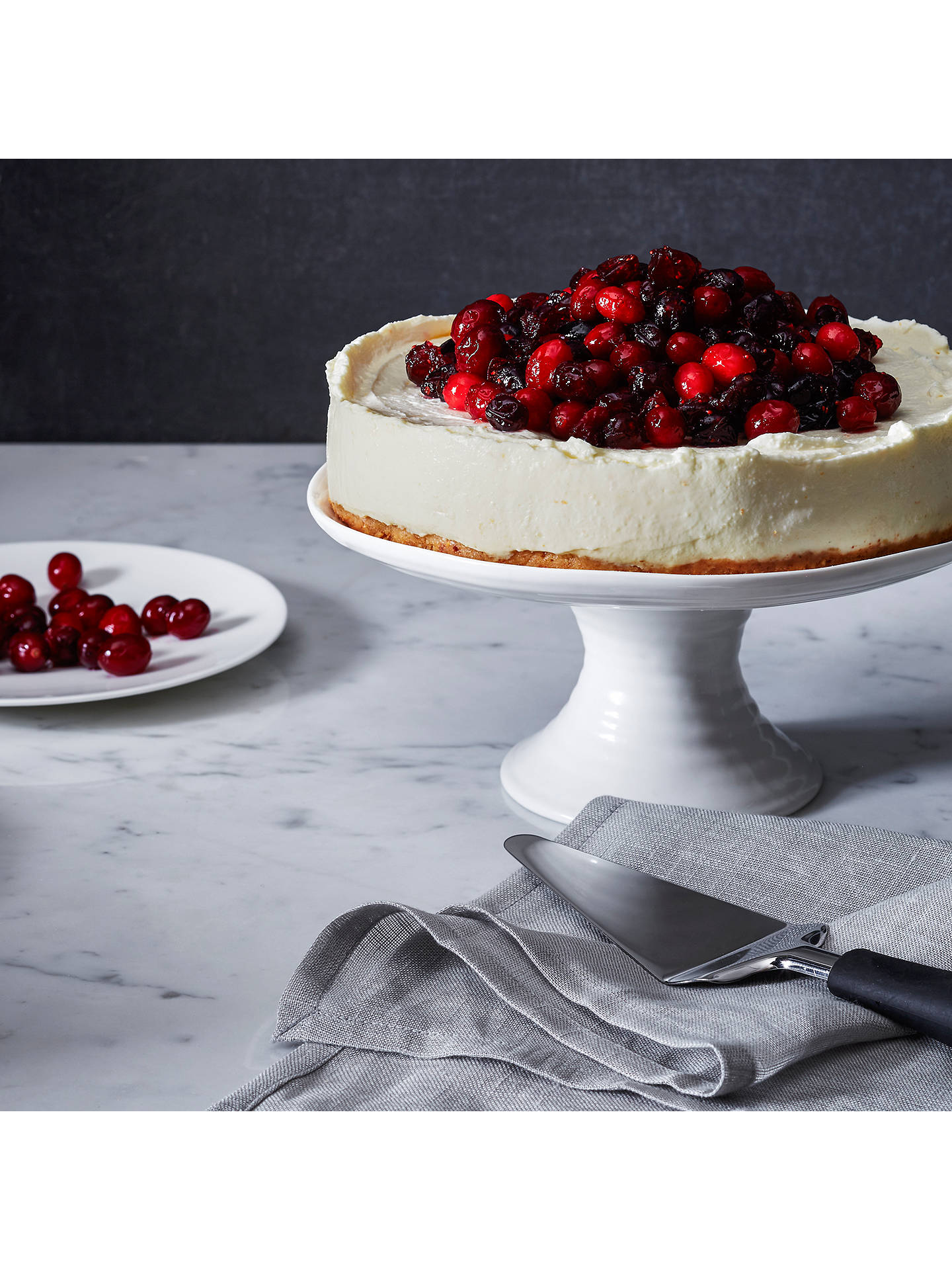 Buy Sophie Conran for Portmeirion Footed Cake Plate, White, Dia.24cm Online at johnlewis.com