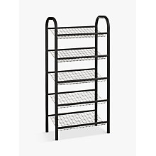Buy John Lewis 5 Tier Shoe Rack, Black Online at johnlewis.com