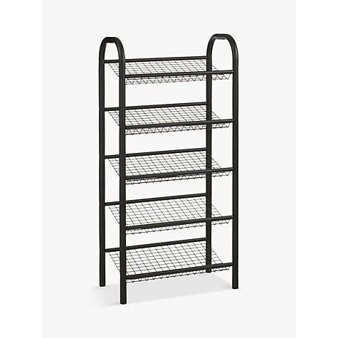John Lewis 5 Tier Shoe Rack Black Online At Johnlewis Com