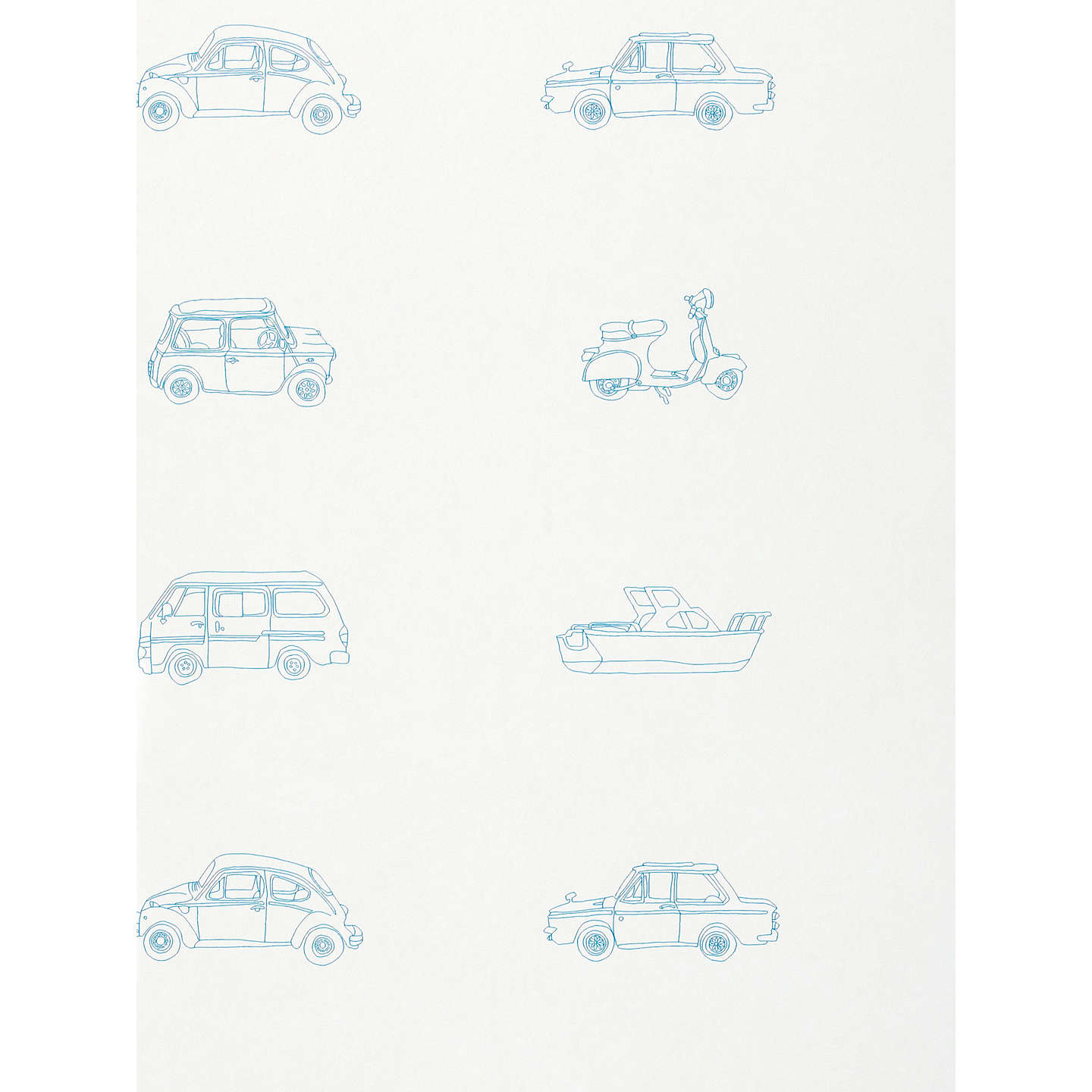 Amazing BuyHarlequin Wallpaper, Go Go Retro Childrenu0027s Wallpaper 70504, Blue Online  At Johnlewis. ...