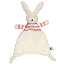 Buy Jellycat Bredita Bunny Soother Soft Toy, One Size, Pink/White Online at johnlewis.com