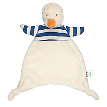 Buy Jellycat Bredita Duck Soother Soft Toy, One Size, Blue/Cream Online at johnlewis.com