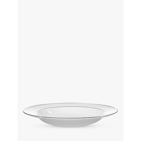 Buy Vera Wang for Wedgwood Lace Platinum 23cm Soup Plate, White Online at johnlewis.com