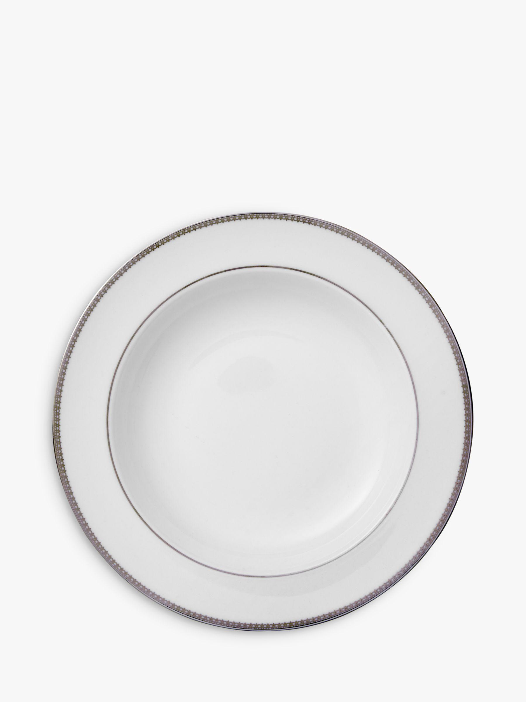 Vera Wang for Wedgwood Vera Wang for Wedgwood Lace Platinum 23cm Soup Plate, White