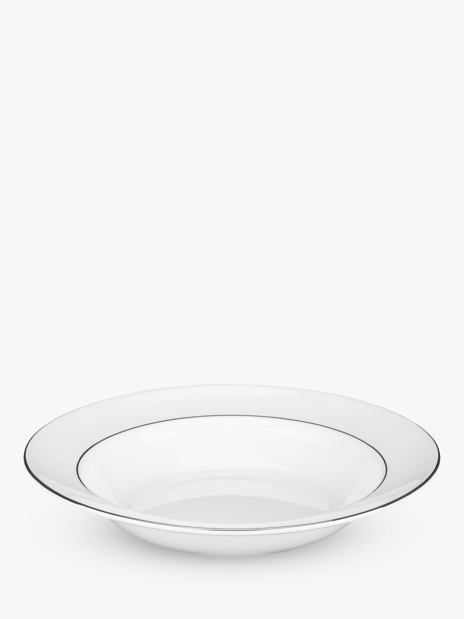Wedgwood Wedgwood Signet Platinum 20cm Soup Plate, White