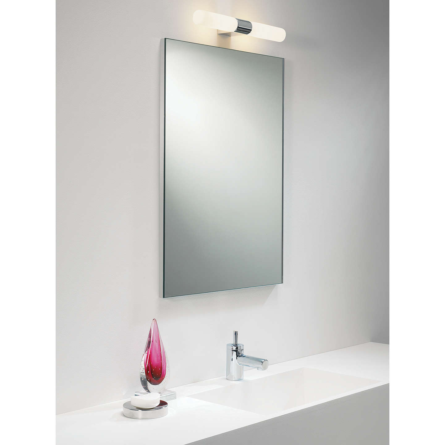astro padova over mirror bathroom light at john lewis. Black Bedroom Furniture Sets. Home Design Ideas
