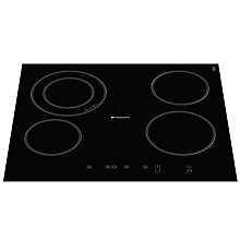 Buy Hotpoint CRA641DC Ceramic Hob, Black Online at johnlewis.com