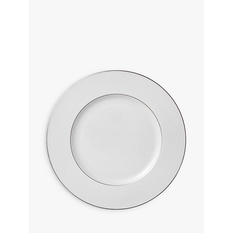 Buy Wedgwood Signet Platinum Plates, White Online at johnlewis.com
