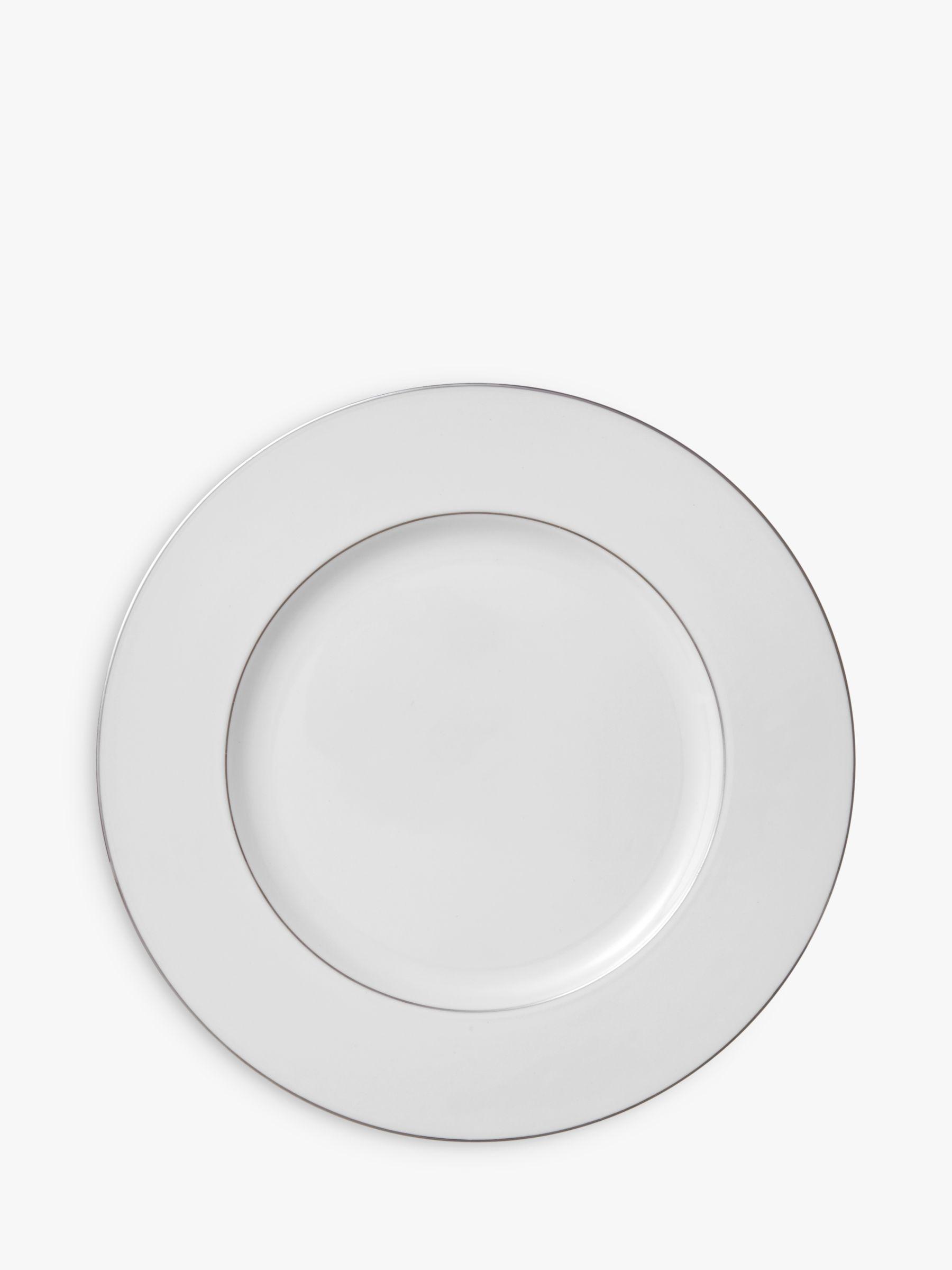 Wedgwood Wedgwood Signet Platinum Dinner Plate, Dia.27cm, White