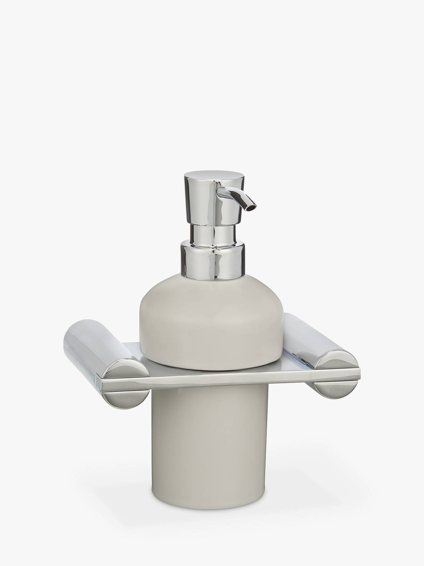BuyJohn Lewis & Partners Solo Wall Mounted Soap Dispenser, White/Chrome Online at johnlewis.com