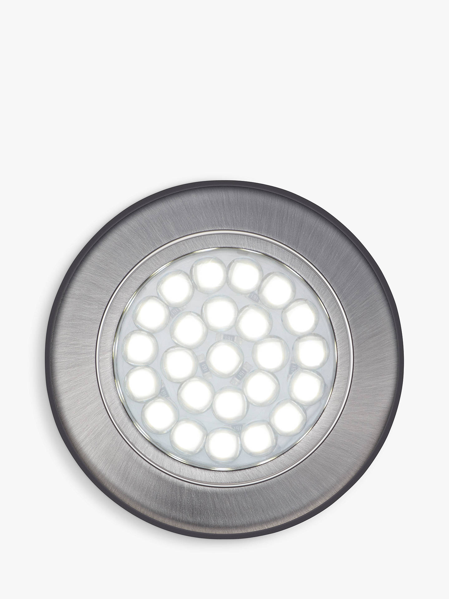 reputable site 4aaa9 b835a John Lewis & Partners Cool LED Circular Flat Under Cabinet Lights, Set of 2