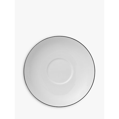 Buy Wedgwood Signet Platinum Tea Saucer, Dia.11.5cm, White Online at johnlewis.com