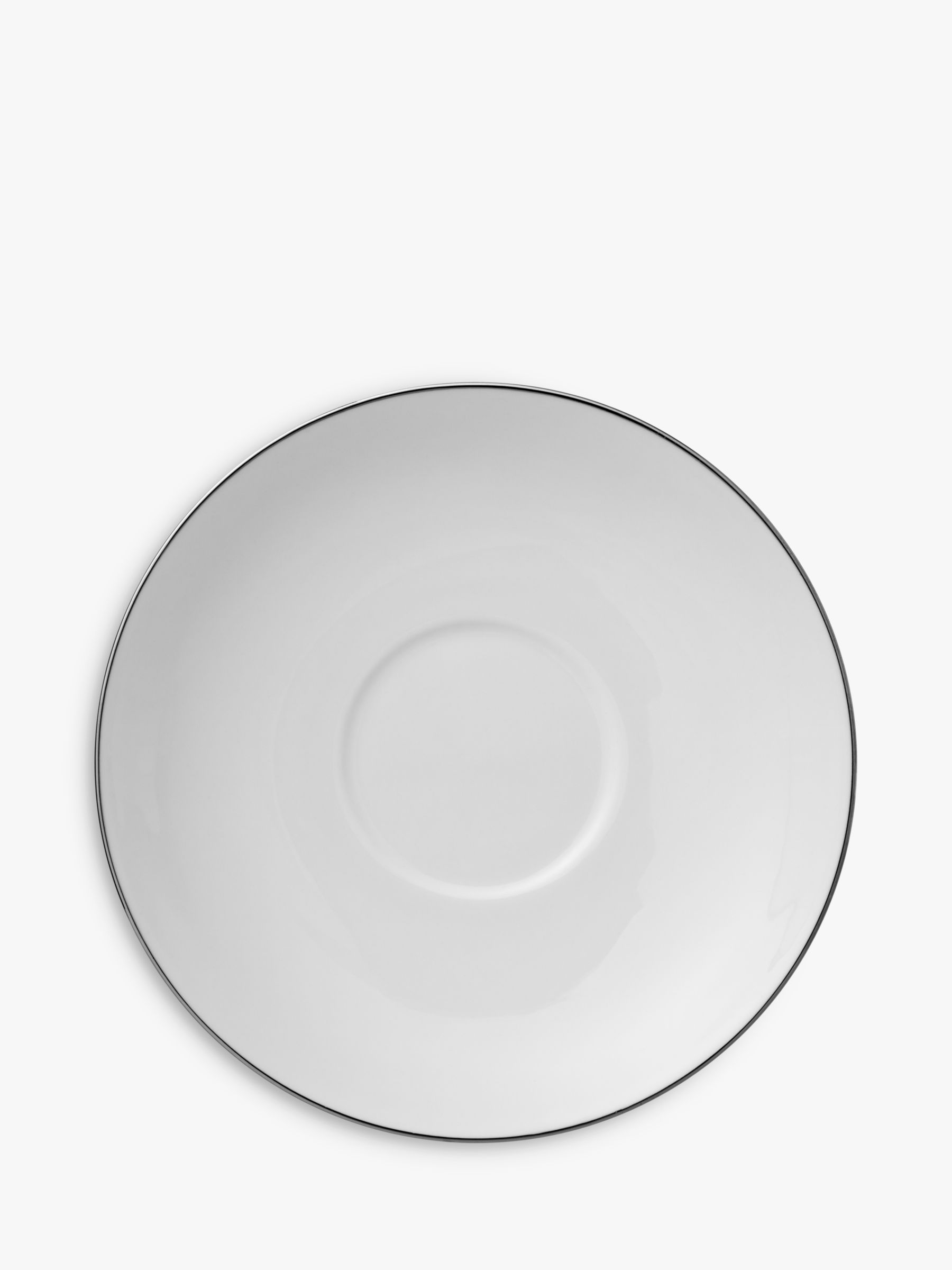 Wedgwood Wedgwood Signet Platinum Tea Saucer, Dia.11.5cm, White