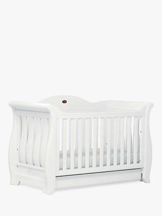 Boori Sleigh Royale Cot/Cotbed, White