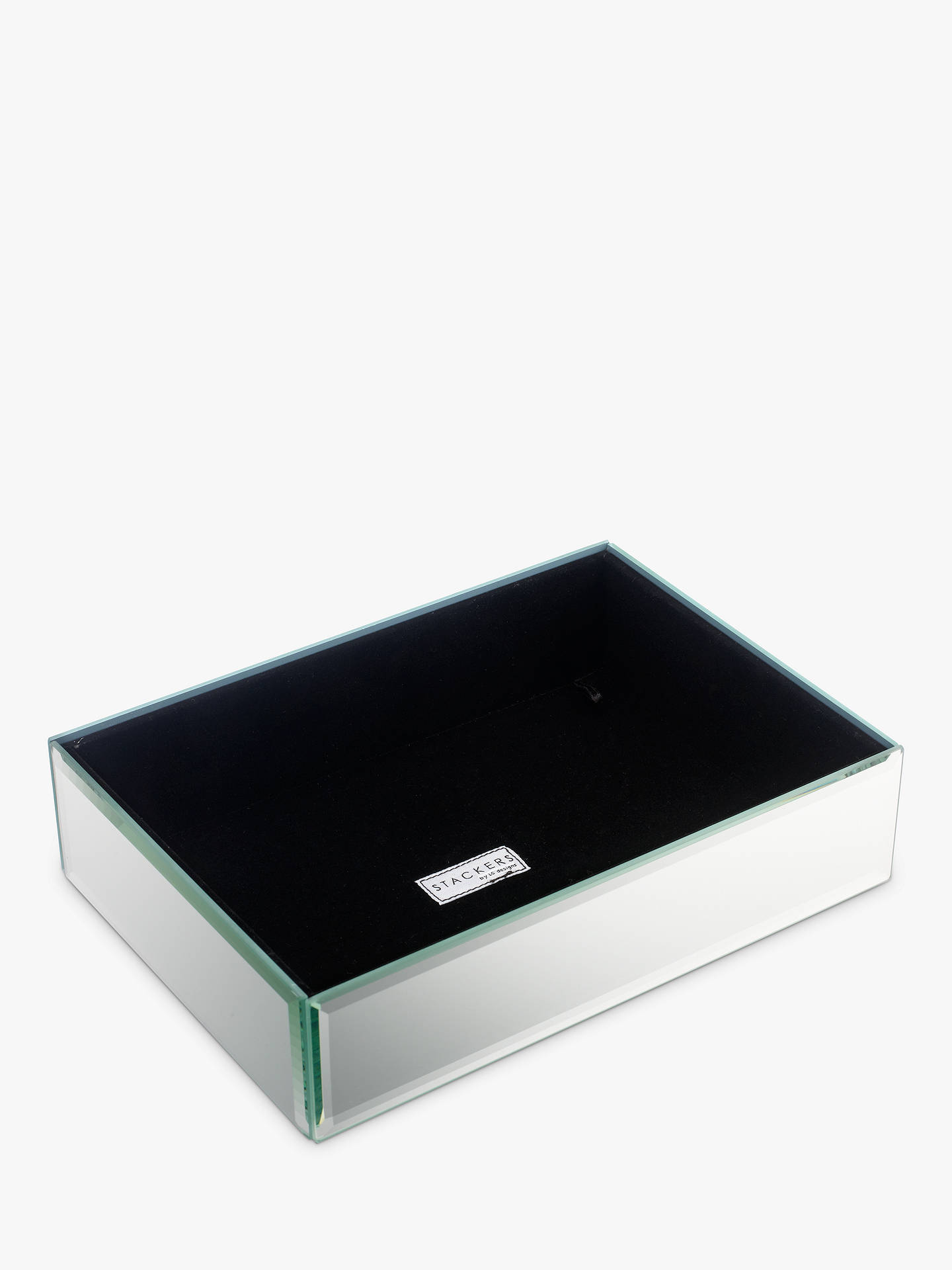 4a8e4fac6700 Buy Stackers Glass Jewellery Box, 1 Section Online at johnlewis.com ...