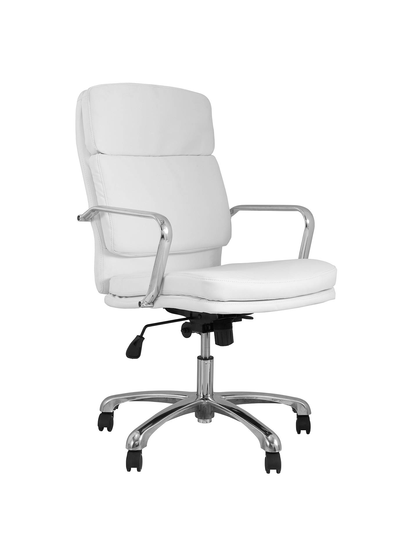Buy John Lewis Amy Office Chair, White Online at johnlewis.com