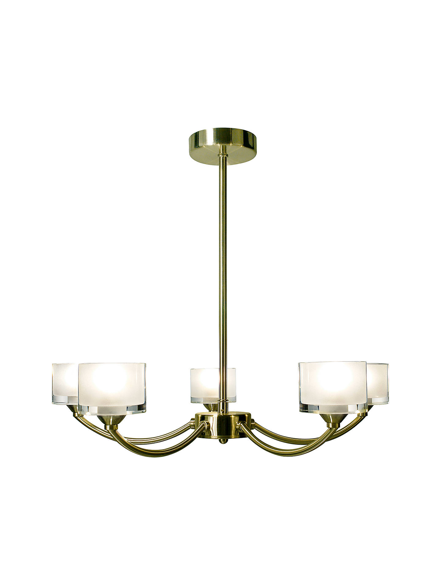 BuyJohn Lewis & Partners Paige Ceiling Light, 5 Arm, Antique Brass Online at johnlewis.com