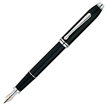 Buy Cross Townsend Fountain Pen, Black Lacquer / Rhodium Plated Online at johnlewis.com