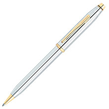 Buy Cross Century II Ballpoint Pen, Medalist Chrome/Gold Online at johnlewis.com